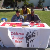CSU Dominguez Hills chapter tabling at the 1st Annual El Camino College Social Justice Fair (3.12.13)