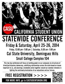 CASU Spring 2014 Statewide Conference