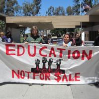 Marching against the Student Success Fees at the Spring 2014 Statewide at CSUDH (4.26.14)